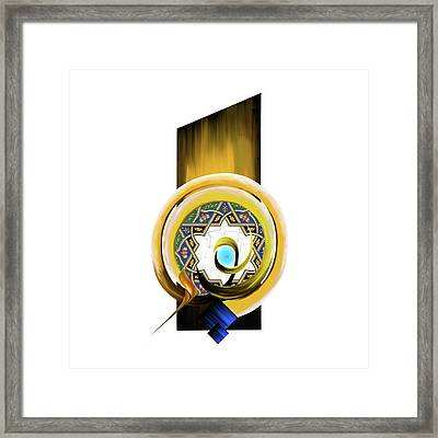 Framed Print featuring the painting Calligraphy 104 1 by Mawra Tahreem