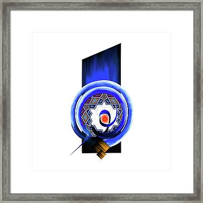 Framed Print featuring the painting Calligraphy 104 2 by Mawra Tahreem