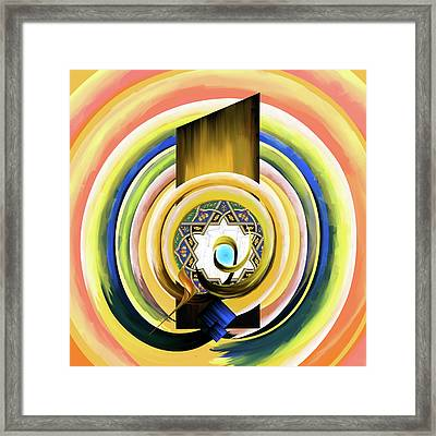 Framed Print featuring the painting Calligraphy 104 3 by Mawra Tahreem