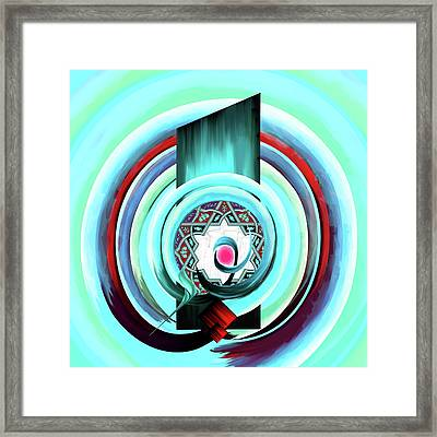 Framed Print featuring the painting Calligraphy 104 4 by Mawra Tahreem