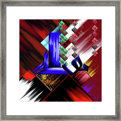 Framed Print featuring the painting Calligraphy 105 3 by Mawra Tahreem