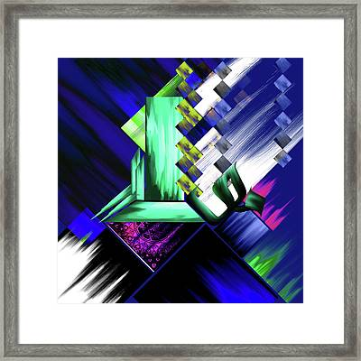 Framed Print featuring the painting Calligraphy 105 4 by Mawra Tahreem