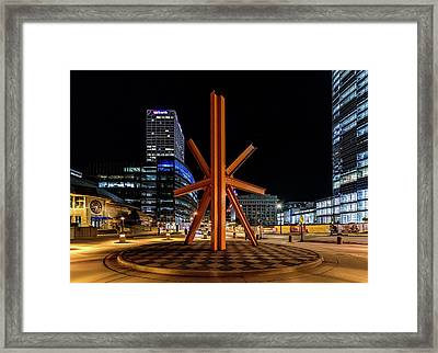 Framed Print featuring the photograph Calling After Sundown by Randy Scherkenbach