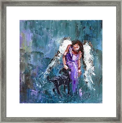 Calling All Angels Framed Print by Judy Mackey