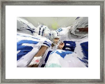 Calling The Play Framed Print by Carrie OBrien Sibley
