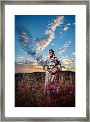 Calling The Spirit Framed Print by Christian Heeb