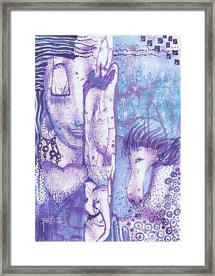 Framed Print featuring the mixed media Calling Upon Spirit Animals by Prerna Poojara
