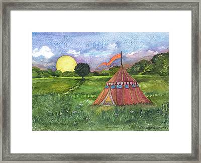 Calliope's Tent Framed Print