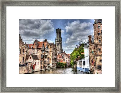 Framed Print featuring the photograph Calm Afternoon In Bruges by Shawn Everhart