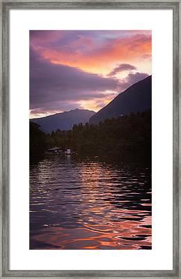 Calm Anchorage Framed Print by Joan Carroll