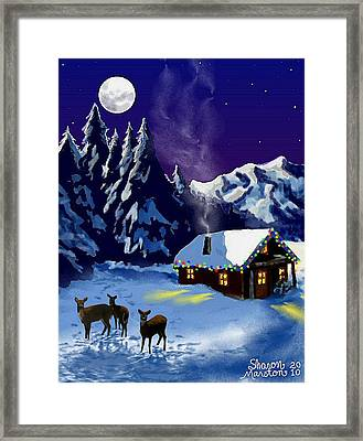 Calm And Bright Framed Print