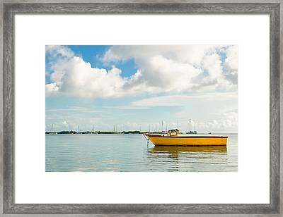 Calm And Peaceful Ocean Framed Print