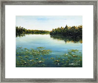 Framed Print featuring the painting Calm by Arturas Slapsys