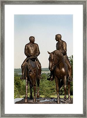 Calm As A Summers Morning Hyrum And Joseph Smith Bronze Sculpture Framed Print by Kim Corpany