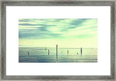 Framed Print featuring the photograph Calm Bayshore Morning N0 1 by Gary Slawsky