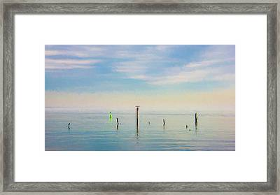 Framed Print featuring the photograph Calm Bayshore Morning N0 2 by Gary Slawsky