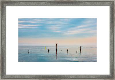 Framed Print featuring the photograph Calm Bayshore Morning N0 3 by Gary Slawsky