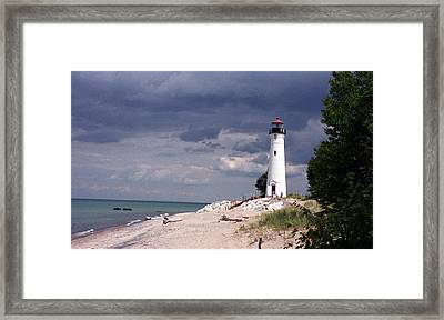 Calm Before The Storm Framed Print by Cathy Weaver