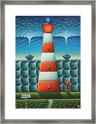 Calm Before The Storm Framed Print by Connor Maguire