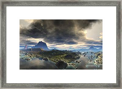 Calm Before The Storm Framed Print by Heinz G Mielke