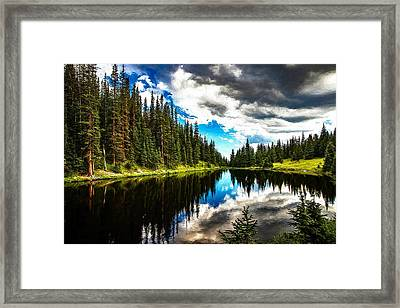 Calm Before The Storm Painting 708 Framed Print