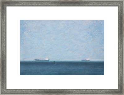 Calm Blue Lake 1 Framed Print by Chamira Young