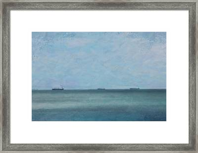 Calm Blue Lake 3 Framed Print by Chamira Young