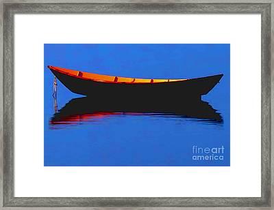 Calm Bristol Harbor Ri Framed Print