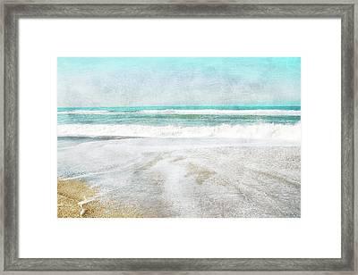 Calm Coast- Art By Linda Woods Framed Print
