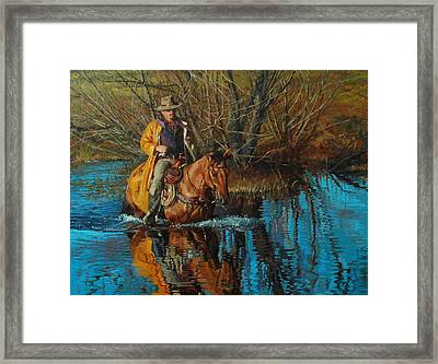 Calm Crossing Framed Print by Jim Clements