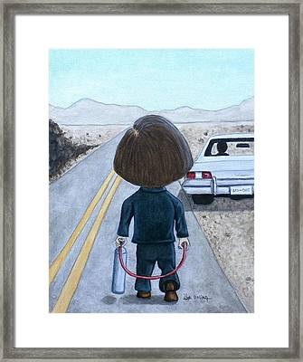 Framed Print featuring the painting Calm Deadly Encounter by Al  Molina
