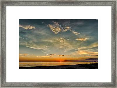 Calm Gulf Waters Sunset Framed Print