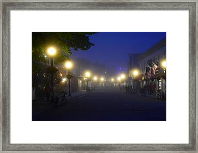 Calm In The Streets Framed Print