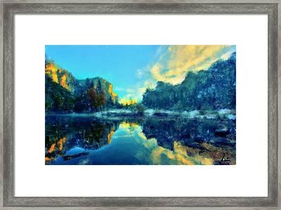 Calm Lake Framed Print