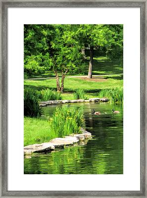 Framed Print featuring the painting Calm Lake Ellyn by Christopher Arndt
