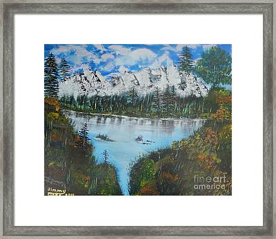 Calm Lake Framed Print