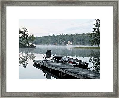 Calm Morning On Little Sebago Lake Framed Print