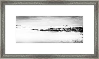 Framed Print featuring the photograph Calm Ocean Landscape Black And White by Tim Hester