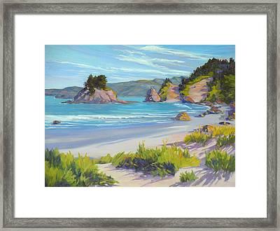 Calm Ocean Waters Framed Print by Rhett Regina Owings
