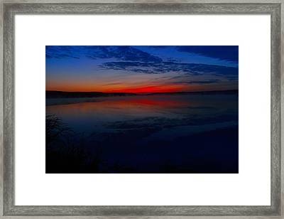 Calm Of Early Morn Framed Print by Jeff Swan