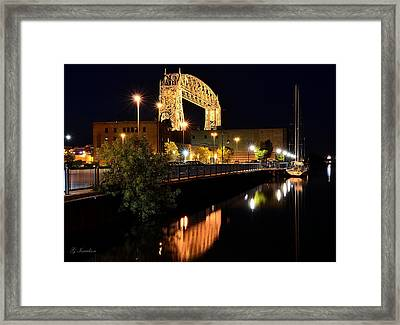 Calm On The Waterfront Framed Print