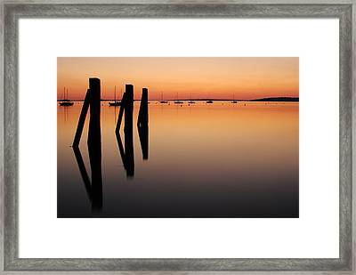 Framed Print featuring the photograph Calm by Paul Noble