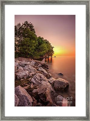 Calm Rising Framed Print