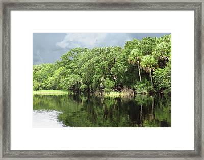Calm River Reflections Framed Print by Rosalie Scanlon