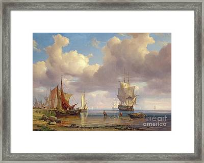 Calm Sea Framed Print by Adolf Vollmer