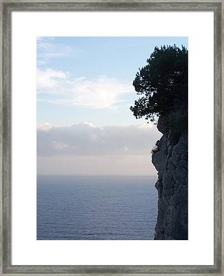 Calm Sea At Dusk Framed Print by Adam Schwartz