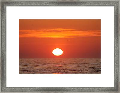 Calm Seas Sunrise Framed Print