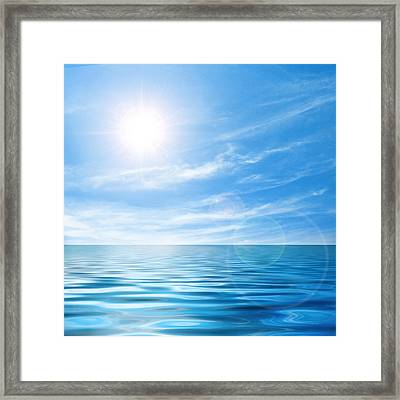 Calm Seascape Framed Print by Carlos Caetano