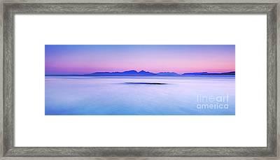 Calm Sunrise Port Na Ba Framed Print by Janet Burdon
