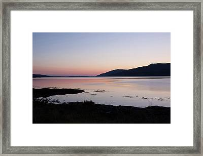 Calm Sunset Loch Scridain Framed Print
